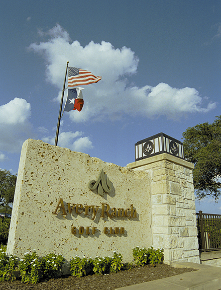 Avery Ranch Golf Course - Entrance