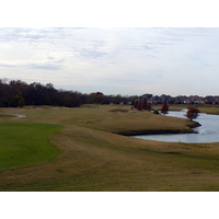 Firewheel at Garland Lakes Course's fourth hole is a 512-yard par 5 with water along much of the right side.