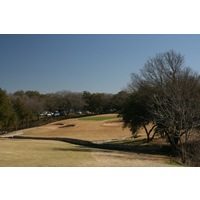 Drives on the right side of the 18th hole at Forest Creek Golf Club will be in jail on their approach shot.