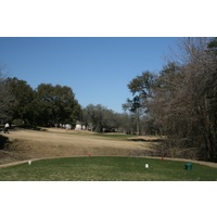 The par-3 sixth hole at Forest Creek Golf Club near Austin is 181 yards from the championship tees.