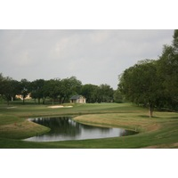 The par-3 10th hole, played over water, is one of Brackenridge Park Golf Course's finest.