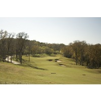 The middle portion of Wolfdancer Golf Club is set on hilly, forested ridgeline, including the 10th hole.