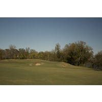 Wolfdancer Golf Club's 18th hole is a par 5 that plays along the Lower Colorado River.