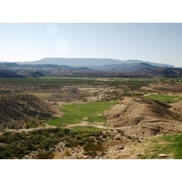 The 649-yard, par-5 eighth at Lajitas Resort's Black Jack's Crossing golf course plays extremely downhill.