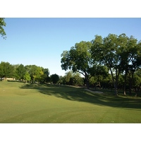 The opening hole at the Highlands Course at Tenison Park Golf Club is a hilly par 4.