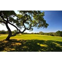 Hill Country oaks are scattered throughout Vaaler Creek Golf Club in the Texas Hill Country.