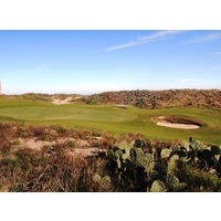 One difference between Newport Dunes Golf Club and British links are the cacti.