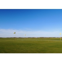 Practice facilities at Newport Dunes Golf Club include a short-game area.