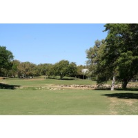 The par-4 ninth hole on the Creeks nine at Hill Country Golf Club is 446 yards from the championship tees.
