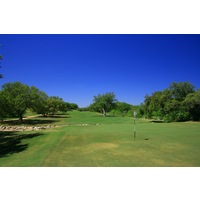 The fourth hole on the Oaks nine at Hill Country Golf Club is a long, straight par 4.