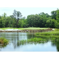 The second hole on The Needler Course plays anywhere from 87 to 164 yards -- over water.