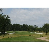 Nos. 8 and 4 on Whispering Pines' Needler Course share the same green, which is around 28,000 square feet.