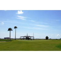 The VOR from the neighboring Galveston airport makes a good target on the par-5 seventh at Moody Gardens Golf Course in Galveston.