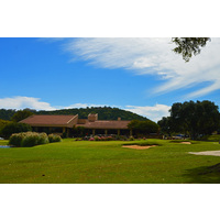 Tapatio Springs Hill Country Resort & Spa ends with a good risk-reward, dogleg right par 5.