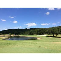 Lost Creek Country Club's second hole is a par 4 guarded by water short.