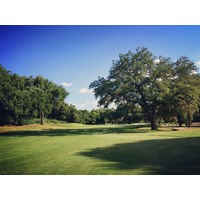 There are some narrow, short holes on the back nine at Lost Creek Country Club in Austin, Texas.