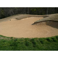 You'll probably get to know the big, distinctive bunkers at Cowboys Golf Club better than you'd like.