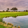 A view over a pond at Midland Country Club.