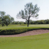 A sunny day view of a hole at Quicksand Golf Course.