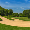 View from the 5th fairway and bunker at Forest Creek Golf Club.
