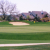 A view of a hole surrounded by bunkers at Tour 18 Dallas.