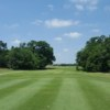 A view of a tee at Twin Creeks Golf Course.