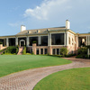 A view of the clubhouse at Houston Country Club