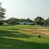 A view of green protected by bunkers at Hideaway Lake Club