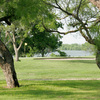 A view of green with water in background (courtesy of San Angelo Country Club)