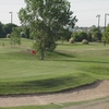 A view of green protected by sand trap at North Texas Golf Center