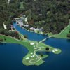 Aerial view of holes #11, #12 and #13 at Walden on Lake Conroe Golf & Country Club