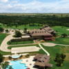 Aerial view of the clubhouse at Retreat Golf Course