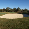 Brackenridge Park #1: Flat-bottomed bunkers in the fairway and around the greens at Brackenridge Park Golf Course also feature grassy slopes