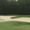 A view of a hole protected by tricky bunkers at Legacy Hills Golf Club