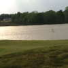 A view of a green with water coming into play at Mount Pleasant Country Club