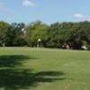 A view of the 18th green at Sharpstown Golf Course
