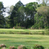 View of the 16th island green at Red Wolf Golf Resort