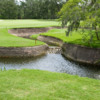 A view of a hole at Champions Golf Club