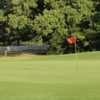 A view of a green at Pine Springs Golf Course