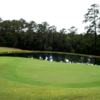 A view of the 9th green at Cape Royale Golf Club.