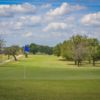A view of the 9th green at Goldthwaite Golf Course.