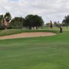 A view of a well protected green at Laredo Country Club.