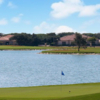 A view of a green with water coming into play at Laredo Country Club.