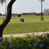 A view of the driving range at Gulf Winds Golf Course.