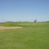 A view of a hole protected by bunkers at Ratliff Ranch Golf Links.