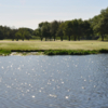 A view over a pond at Weimar Golf Club.