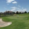 A sunny day view of a green at Mira Vista Golf Club.