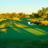 A sunny day view of a green at Westwood Golf Club.