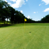 Looking back from a green at Stephen F. Austin Golf Club