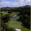 Aerial view of hole #2 at Dominion Country Club